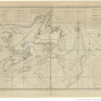 Carte réduite des bancs et de l'île de Terre-Neuve [avec texte ms. sur les traités de 1713, 1763, 1783]