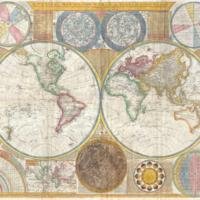 A General Map of the World, or Terraqueouis Globe with all the New Discoveries and Marginal Delineations, Containing the Most Interesting Particulars in the Solar, Starry and Mundane System.